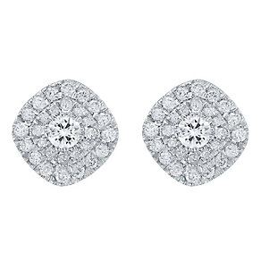 9ct White Gold 0.50ct Diamond Earrings - Product number 4325354
