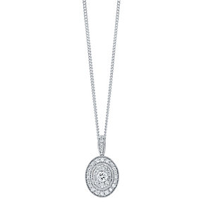 9ct White Gold 0.50ct Diamond Pendant - Product number 4325508