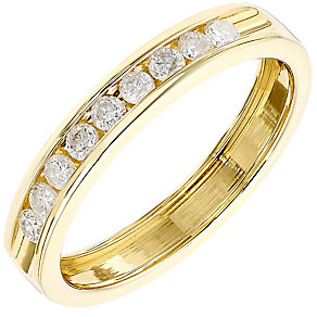 18ct Yellow Gold Channel Set 0.25ct Diamond Band - Product number 4325516