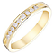 18ct Yellow Gold Channel Set 0.15ct Diamond Band - Product number 4325648