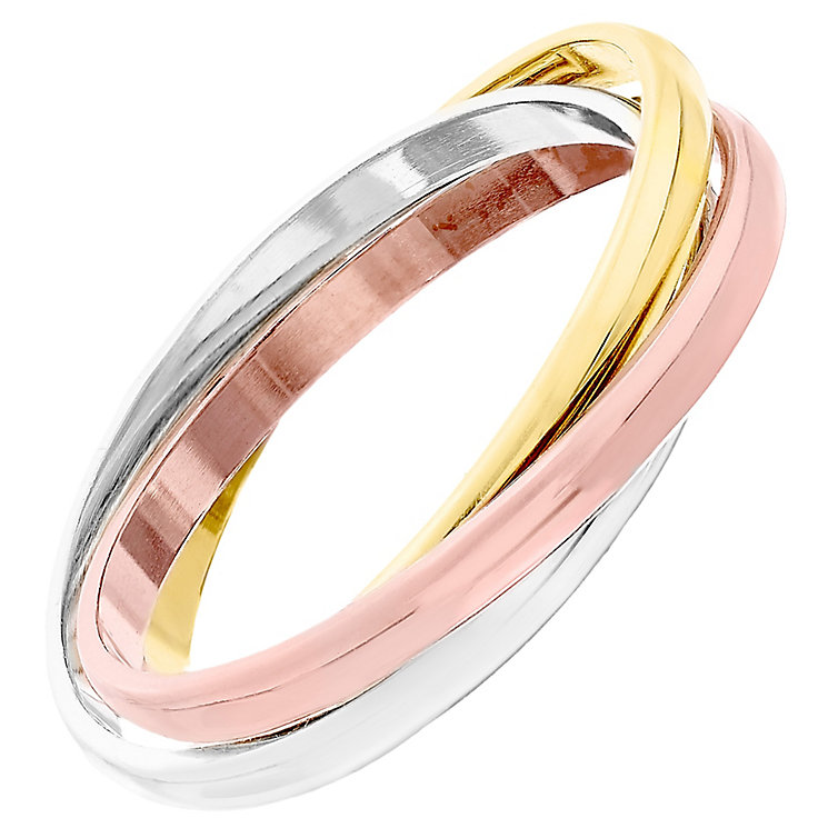 9ct White Yellow And Rose Gold Ring - Product number 4325788