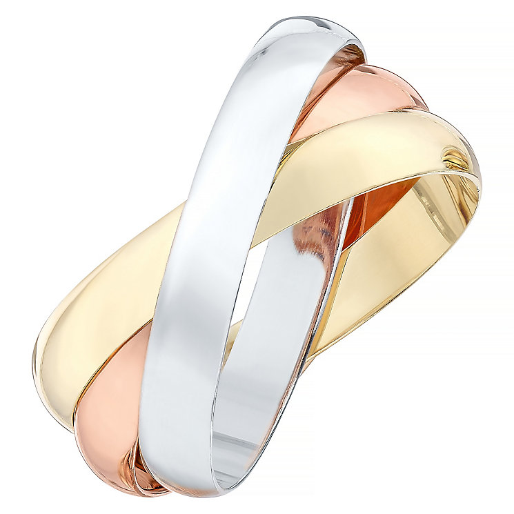 9ct White Yellow And Rose Gold Ring - Product number 4326083