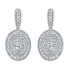 9ct White Gold 0.50ct Diamond Earrings - Product number 4327004