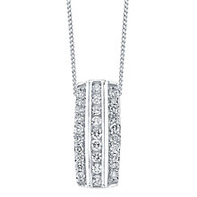 9ct White Gold 0.50ct Diamond Pendant - Product number 4327187