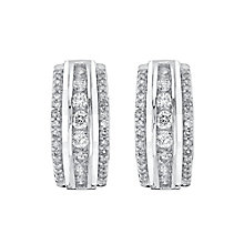 9ct White Gold 0.50ct Diamond Earrings - Product number 4327217