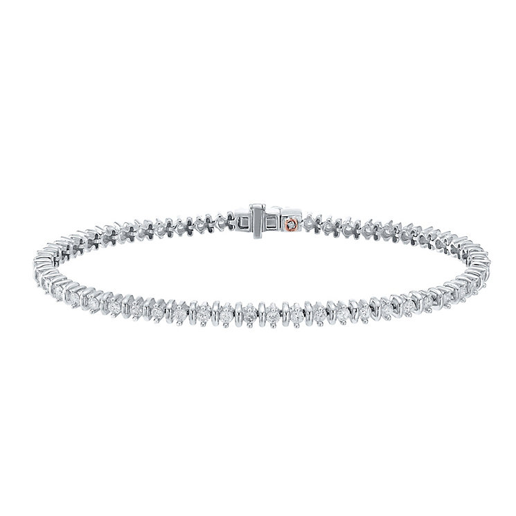 9ct White Gold 2ct Diamond Bracelet - Product number 4327241