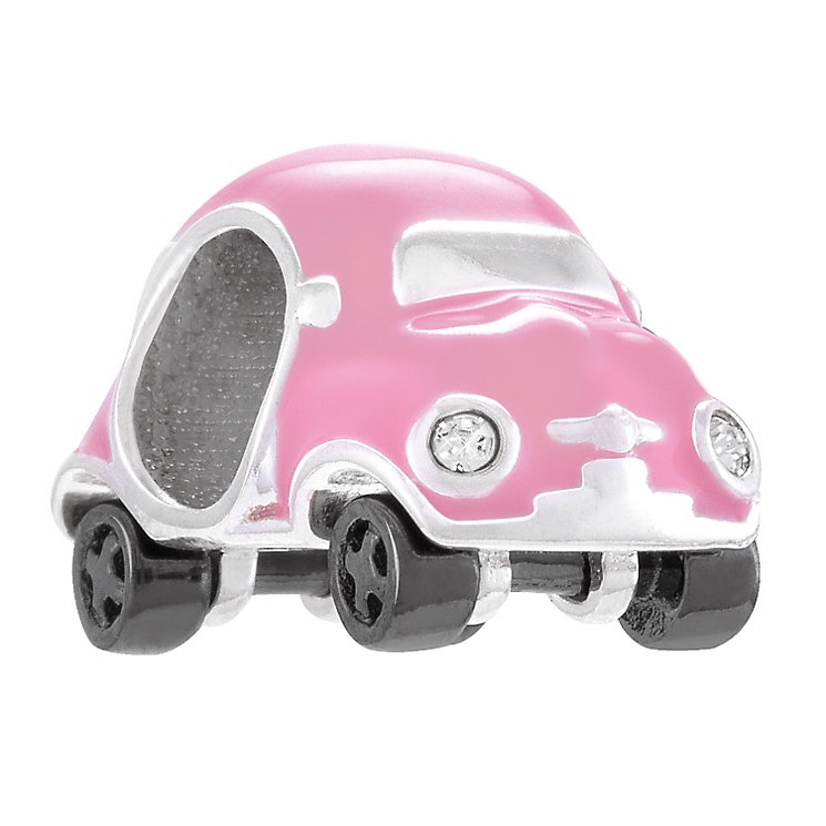 Chamilia Sterling Silver Pink Enamel Mini Racer Bead - Product number 4328183