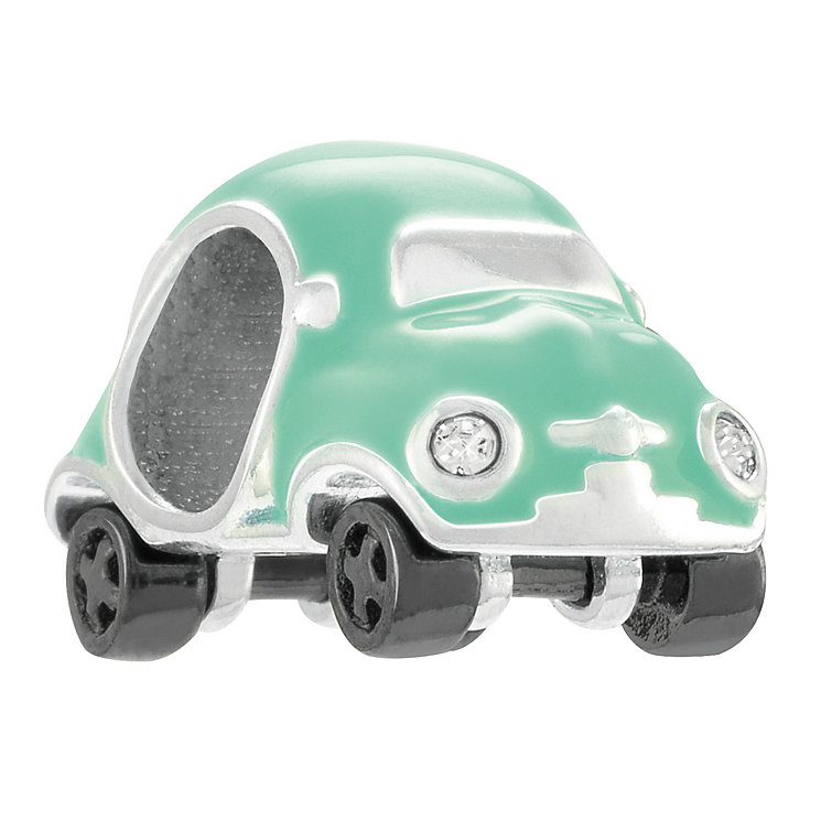 Chamilia Sterling Silver Mint Enamel Mini Racer Bead - Product number 4328221