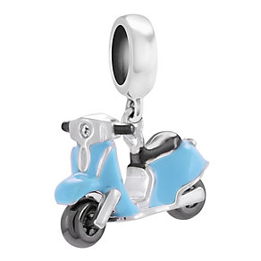 Chamillia Sterling Silver Blue Enamel Mini Moto Charm - Product number 4328248