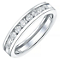 18ct White Gold 0.50ct Channel Set Diamond Ring - Product number 4328965