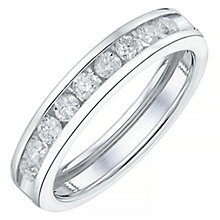 18ct White Gold 50pt Channel Set Diamond Ring - Product number 4328965