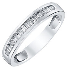 18ct White Gold 25pt Diamond Band - Product number 4329260