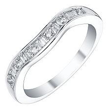 18ct White Gold 25pt Diamond Shaped Band - Product number 4329457