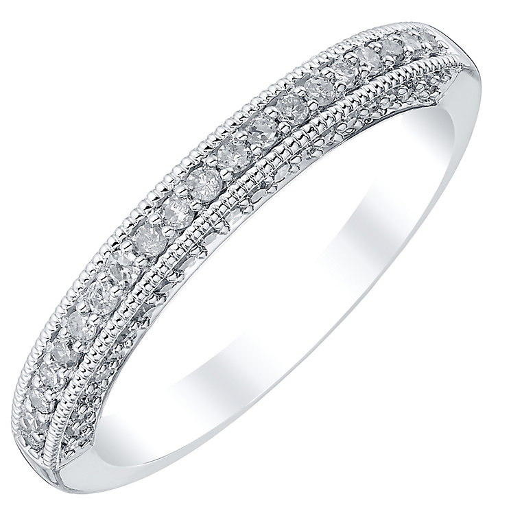 18ct White Gold 0.33ct Diamond Band - Product number 4329821