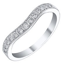 18ct White Gold 20pt Diamond Shaped Band - Product number 4329953
