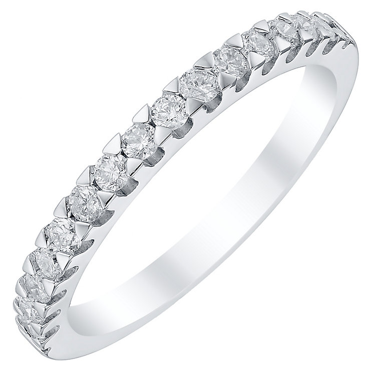 18ct White Gold 0.33ct Diamond Band - Product number 4330250