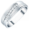 Men's 9ct White Gold 7 Stone 0.25ct Diamond Band - Product number 4330994