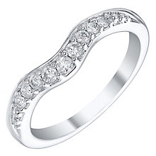 18ct White Gold 0.15ct Diamond Shaped Band - Product number 4331443