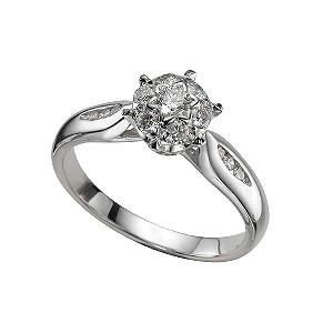 18ct white gold third carat diamond ring - Product number 4334965