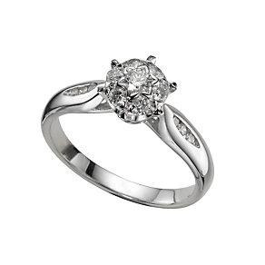 18ct white gold third carat diamond ring - Product number 4334965