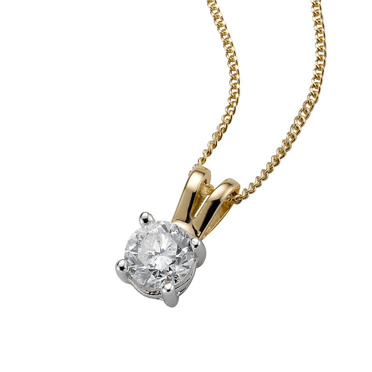 18ct two colour gold 40 point diamond pendant - Product number 4335112
