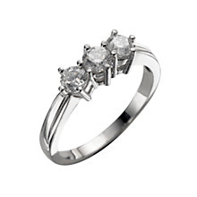 18ct white gold three quarter carat diamond three stone ring - Product number 4336968