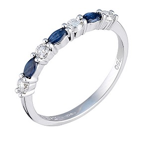 18ct white gold sapphire and diamond ring - Product number 4339894