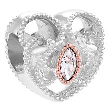 Chamilia Sterling Silver Heart Scroll Bead - Product number 4341503