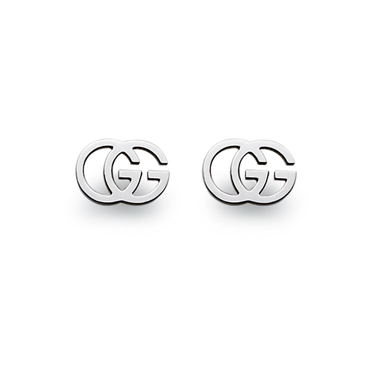 18ct white gold logo earrings - Product number 4346998