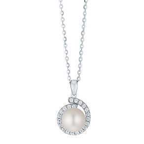 9ct White Gold Cultured Freshwater Pearl Pendant - Product number 4347102
