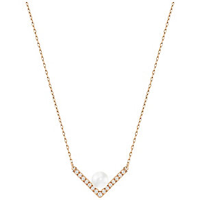 Swarovski Rose Gold Plated Edify Necklace - Product number 4353870