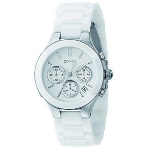 DKNY Ladies' Stainless Steel Ceramic Bracelet Watch - Product number 4355369