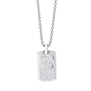 Stainless Steel Dog Tag Pendant With Ball Chain - Product number 4357418