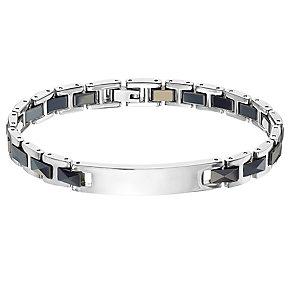 Stainless Steel Black Link ID Bracelet - Product number 4357426