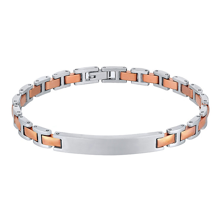 Stainless Steel & Rose Gold-Plated ID Bracelet - Product number 4357566