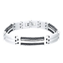 Titanium & Black Cable Bracelet - Product number 4358368