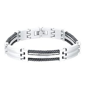 Titanium & Black Cable Bracelet - Product number 4358368