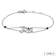 Vera Wang Silver 0.18ct Diamond & Sapphire Love Bracelet - Product number 4358481