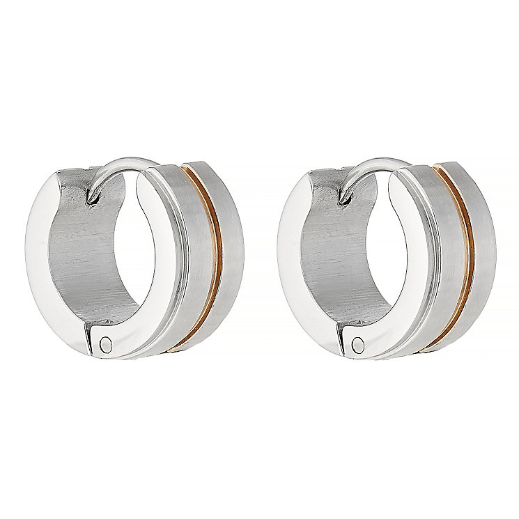 Stainless Steel Hoop Earrings - Product number 4358562