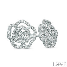 Vera Wang 14ct White Gold 0.30ct Diamond & Sapphire Earrings - Product number 4358600