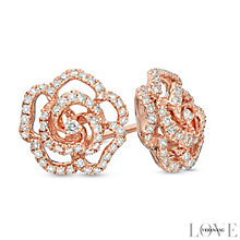 Vera Wang 14ct Rose Gold 0.30ct Diamond & Sapphire Earrings - Product number 4358627