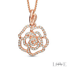 Vera Wang 14ct Rose Gold 0.23ct Diamond & Sapphire Pendant - Product number 4358635