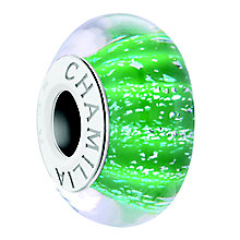 Chamilia Palm Green Sterling Silver & Murano Glass Bead - Product number 4364821