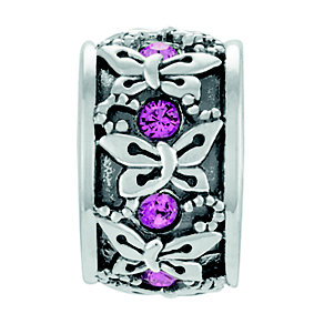 Chamilia Sterling Silver & Rose Swarovski Rondelle Bead - Product number 4365801
