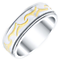 Titanium Patterned Spinner Ring - Product number 4366239
