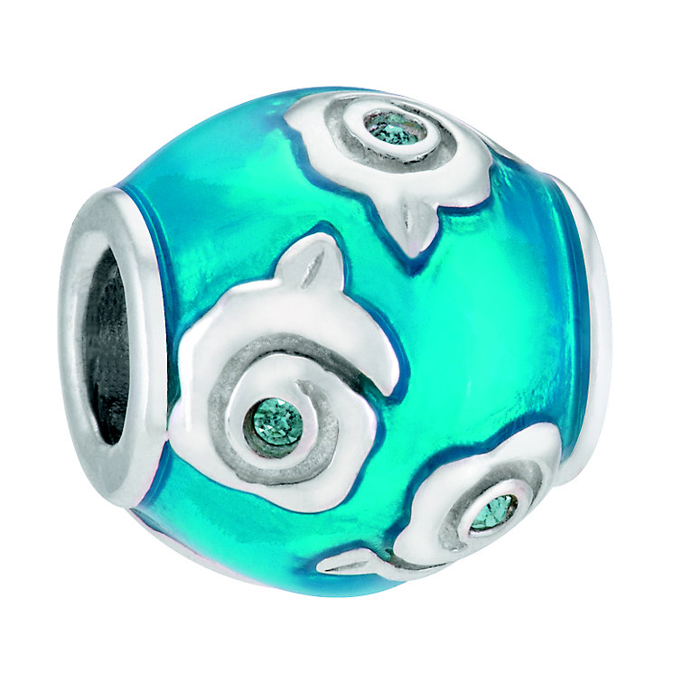 Chamilia Deco Rose Sterling Silver Blue Vintage Rose Bead - Product number 4366654