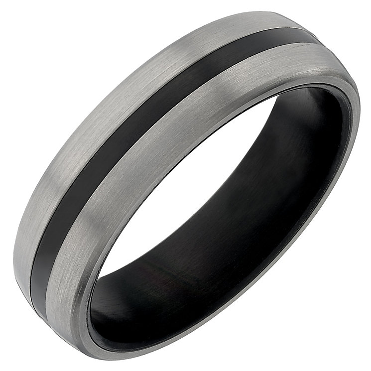 Titanium Black Striped Ring - Product number 4366794
