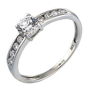 9ct White Gold Cubic Zirconia Ring - Product number 4366891