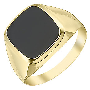 9ct Gold Onyx Signet Ring - Product number 4367898