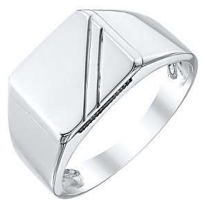 Sterling Silver Square Plain Signet Ring - Product number 4369068